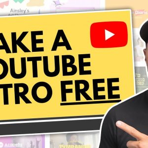 How To Make an Animated YouTube Intro Free In Canva // Intro Video For YouTube Channel